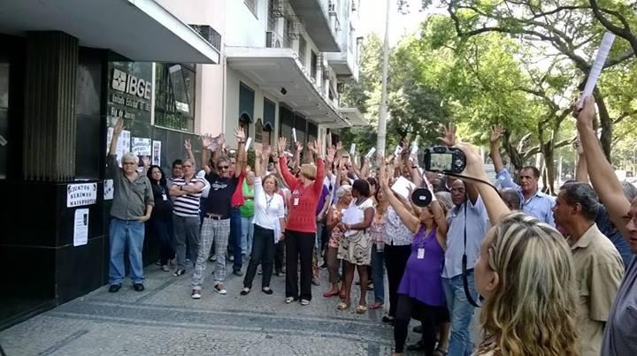 Piquete Em Frente Ao IBGE-RJ